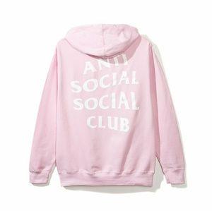 Anti Social Social Club Pink Hoodie